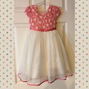 Fancy Easter / Special Occasion Dress- Coral